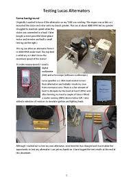 testing lucas alternators aug 2013