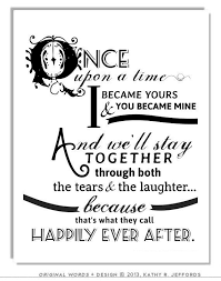 Quotes For Couples Simple Wedding Quotes Happily Ever After Typographic Print For Newlyweds