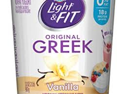 Light Fit Nonfat Greek Yogurt Vanilla Nutrition Facts