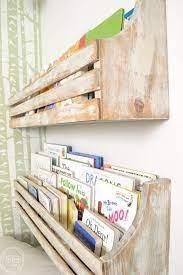 diy wall mounted bookshelves wall
