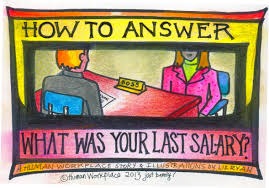 how to report your past salaries in an online job application