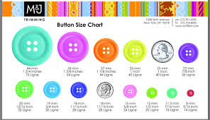 Button Size Chart Button Size Chart Size Chart Simple Outfits Sewing Tutorials