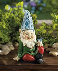 gnome statue gnome figurines gnome mushroom lawn gnome squatting garden gnome