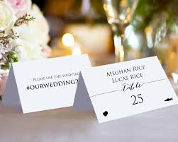Double Sided Place Cards With Meal Options Wedding Templates And