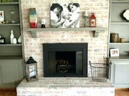 resurface a brick fireplace how