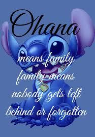 Ohana Means Family Quote Custom Ohana Means Family Lilo And Stitch Disney Art Wall Art Print