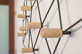 this geometric coat rack could also