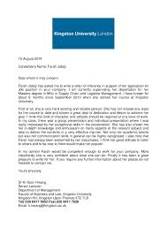 recommendation letter for professor ideas collection academic reference letter kingston university