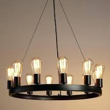 round black chandelier crafted of iron with an industrial style black finish our exclusive round chandelier round black chandelier