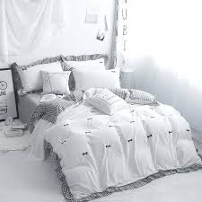 100 cotton bedding sets embroidery grey pink white set kids girls twin queen king size duvet