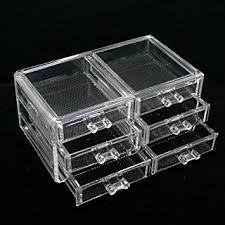 luxury acrylic cosmetic organizer makeup box 6 drawers 1005 5