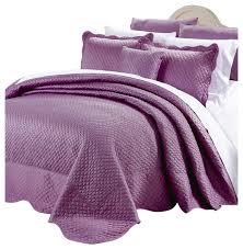 matte satin quilted 4 piece bedspread