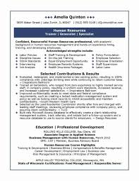 Human Resource Management Resume Best Human Resources Manager Resume