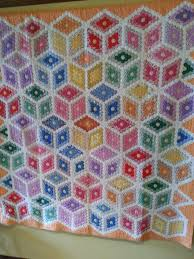 Visit to the La Conner Quilt & Textile Museum | Dragonfly Quilts Blog & The Museum now has a sizeable permanent collection including this lovely  1930's cubes quilt hand-pieced from hexagons. Rotating exhibits on the  ground floor ... Adamdwight.com