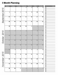 3 Month Calendar Template Word 3 Month Calendar Free