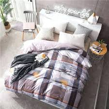 duvet cover with zip uk simple dark lattice pattern bird single double covers zipper cotton comforter