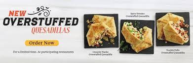 El Pollo Loco Nutrition Chart El Pollo Loco Adds Three New Overstuffed Quesadillas To Menu