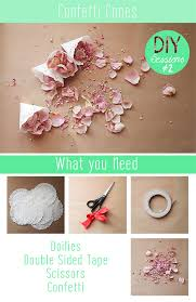 How To Make Paper Cones For Flower Petals How To Make Confetti Cones Using Doilies Diy Sessions 2 From