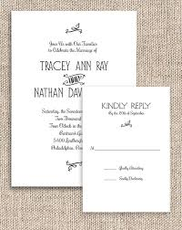 At Home Invitation Printable Rustic Chic Invitation And Rsvp Set Digital Invites