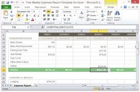 expenses report excel free weekly expenses report template for excel
