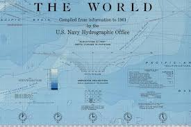 Ocean Depth Chart The Worlds Ocean Depths Chart Print Map Of The Depths Of The Oceans Bathymetric Chart World Ocean Topography Print Museum Quality