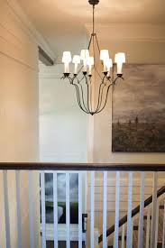 visual comfort chandelier staircase transitional with none bistro