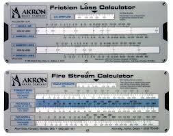 Fire Department Friction Loss Chart Fire Stream Friction Loss Calculator