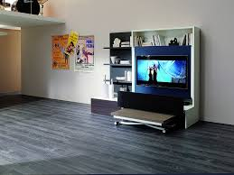 smart furniture design. The Smart Living Media System Is An Innovative Concept In Space Saving Design. Complete With A Television, Dining Table, Folding Chairs And Optional Furniture Design