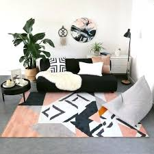 living room carpets black white pink carpet geometric morocco rug plaid striped kitchen bedside round rugs