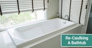 re caulking a bathtub