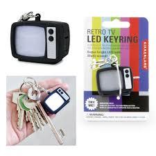 Retro Tv Online Kikkerland Retro Tv Television Led Keyring Keychain Static Sound Flashing Gift
