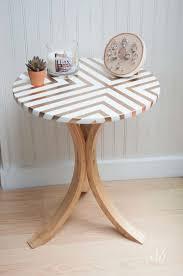 painted table ideasCreative DIY Painted Furniture Ideas  Ikea table Gold spray