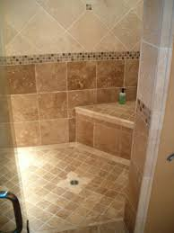bathroom shower tile design color combinations: brown  simply chic bathroom tile design