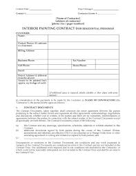 medium to large size of 0003339 interior painting contract residential house painterorms templatereeorm agreement form contractor