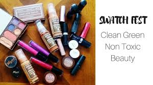 clean non toxic makeup swatches swatch fest 1 100 natural makeup brands