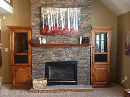 30 faux brick and rock panel ideas pictures throughout faux stone fireplace surround ideas