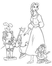 Belle Beauty And The Beast Coloring Pages Get Coloring Pages