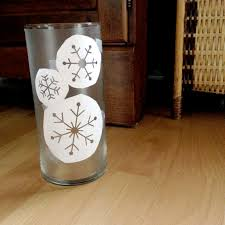 diy etched glass snowflake candle holder