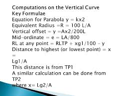 9 comtions on the vertical curve key