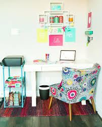 colorful home office. looking for creative office ideas this makeover is the perfect combination of neutral cute colorful home n