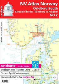 Nv Chart Atlas No2 Oslofjord Sor Svenska Grensen To