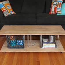 ideas to live the diy life tutorial metal milk crate coffee table