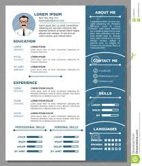 Resume And Cv Template With Nice Design Stock Vector Illustration