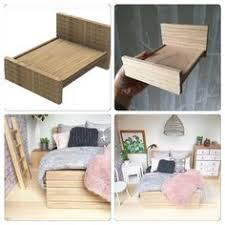 homemade doll furniture. Dollhouse Modern Wooden Bed (queen And Single) Homemade Doll Furniture L
