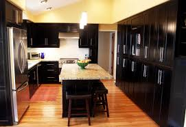 Modren Dark Kitchen Cabinets Colors Image Of On Design Inspiration
