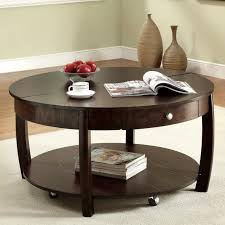coffee table glass top large round wood black genoa with in dark espresso occasio