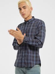 Buy Indigo Nation Blue Multi Check Casual Shirt For Men