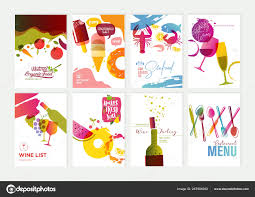 Menu Presentation Design Set Restaurant Menu Brochure Flyer Design Templates Vector