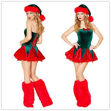 Sexy Christmas Costumes For Women Naughty Elf Costume With Leg Warmers Set  Strapless Mini Dress Outfit C1579 Women Group Costumes Themes For Costumes  From .
