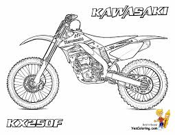 Coloriage De Motocross Dessin De Motocross A Imprimer L
